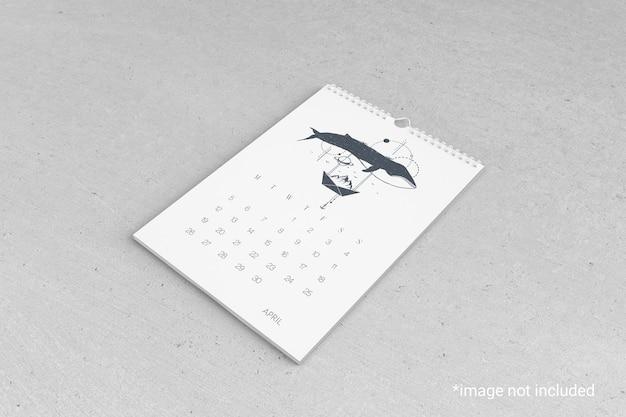 壁掛けカレンダーのモックアップ