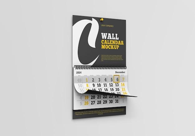 벽 달력 모형