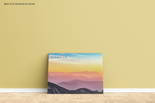 Wall canvas mockup