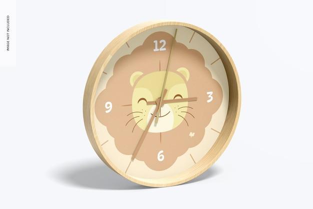 掛け時計のモックアップ左側面図