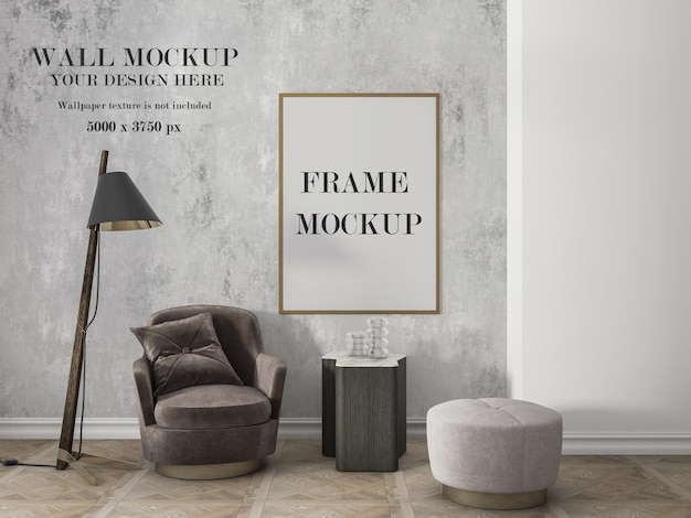 Wall and frame design mockup