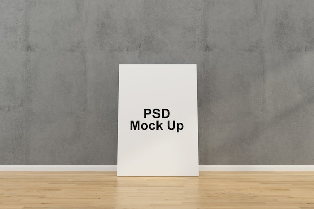 Wall frame mock up template