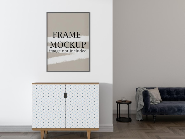 Wall frame mockup for your design