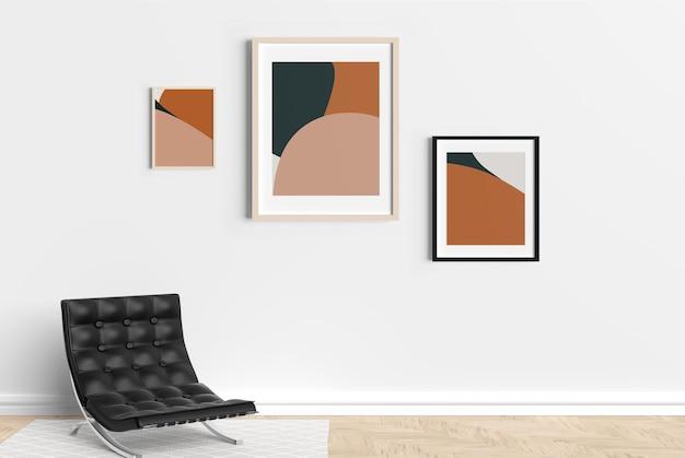 Wall frame mockup