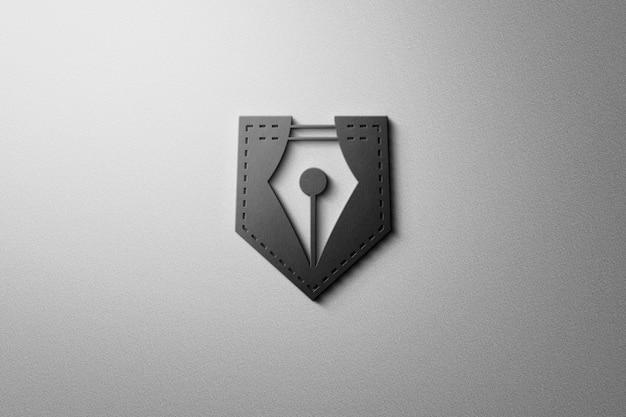 壁のロゴのモックアップ