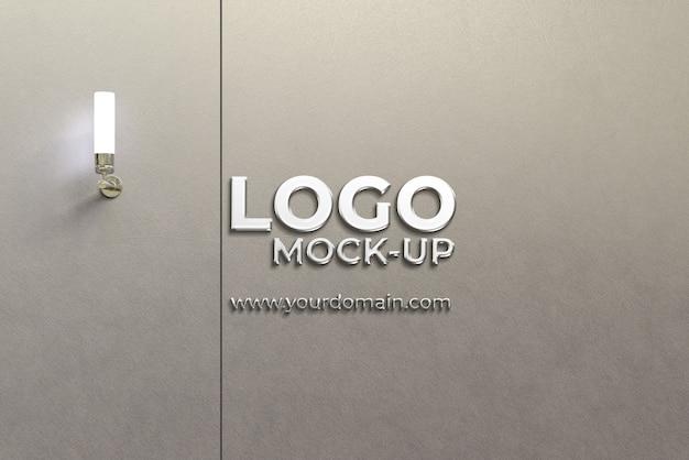 Настенный логотип макет