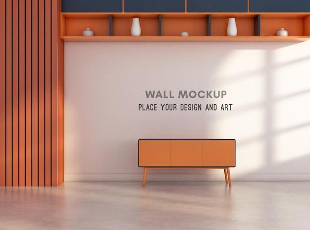 3d-рендеринг стенового макета в стиле мемфис