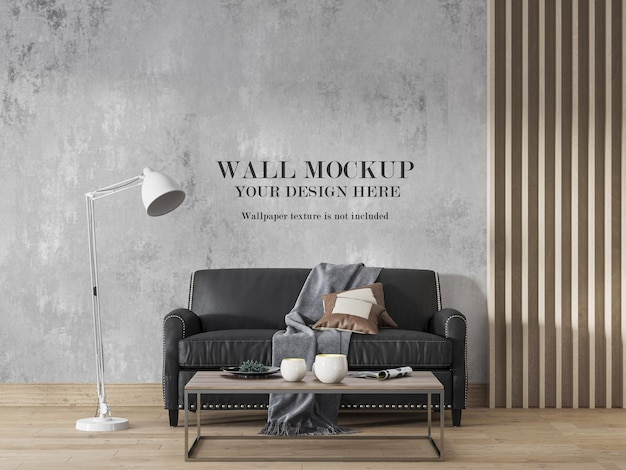 Wall mockup add your own wall art design