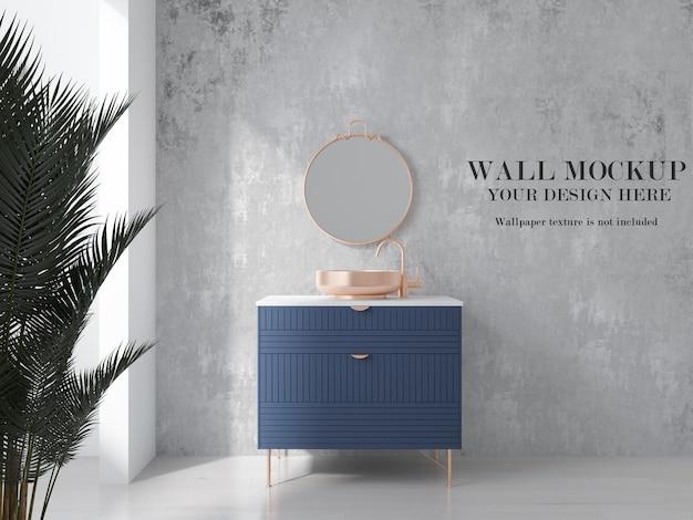 Wall mockup for ceramic tiles in bathroom