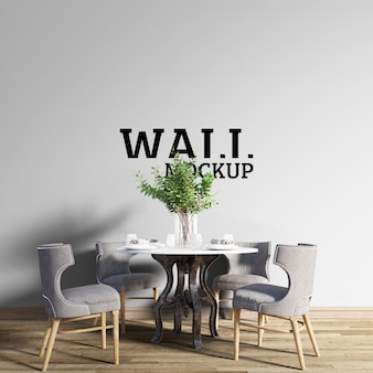 Wall mockup - classic style dining room