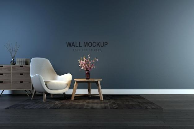 Дизайн макета стены в 3d рендеринге