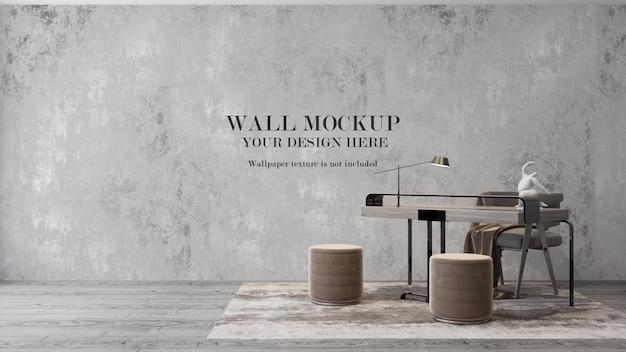 家具付き壁モックアップデザイン