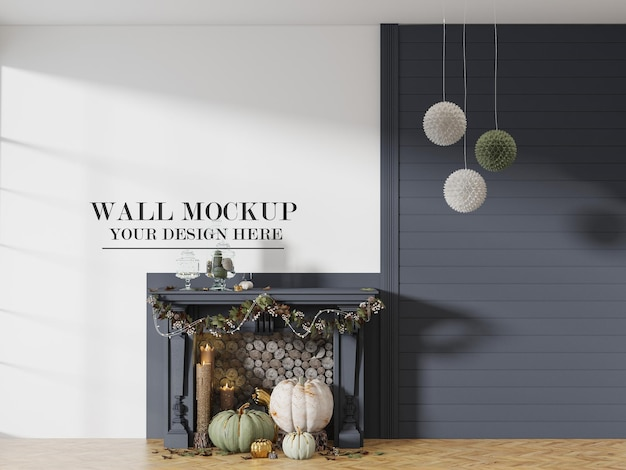 ハロウィーンパーティーの装飾のための壁のモックアップ