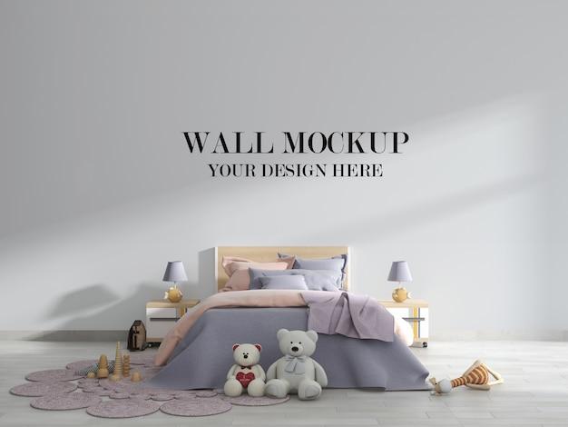 Макет стены в яркой и красивой детской комнате