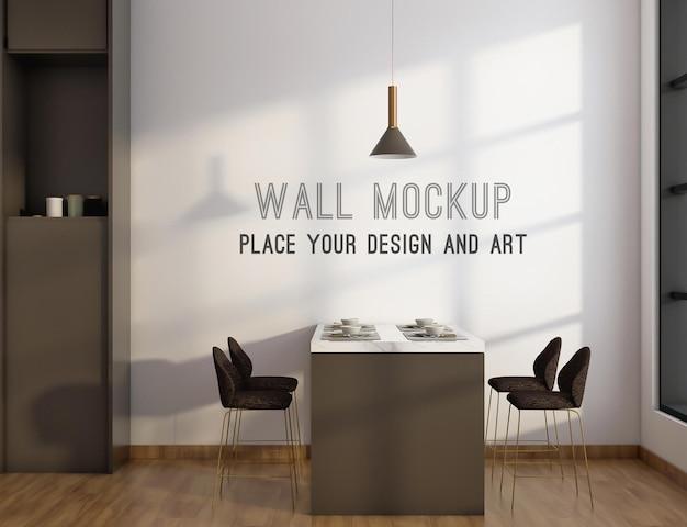 Макет стены в столовой и кухне