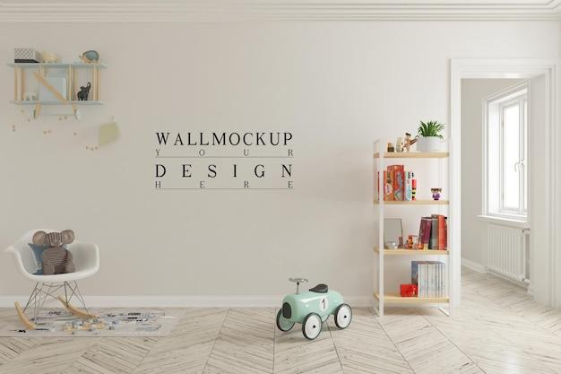 Макет стены в интерьере детской игровой комнаты