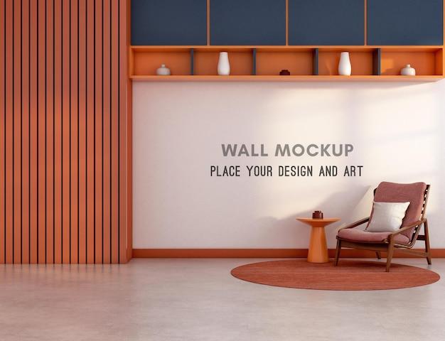 Макет стены в гостиной в стиле мемфис
