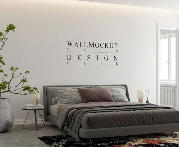 Настенный макет в современной современной спальне