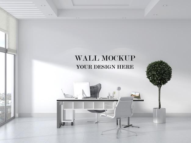 Макет стены в современном офисе с минималистичным дизайном