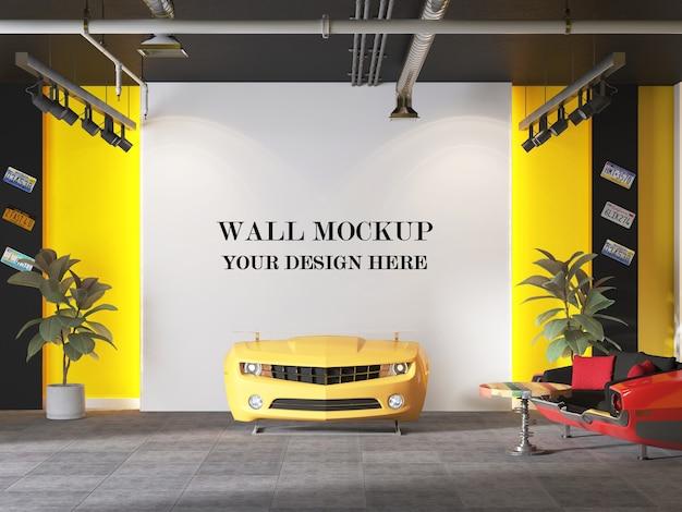 Макет стены в современной приемной с минималистичным дизайном