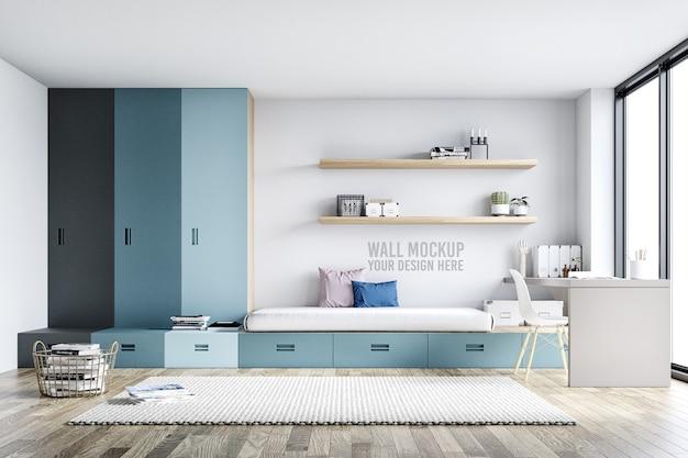 壁のモックアップインテリア子供の寝室の装飾