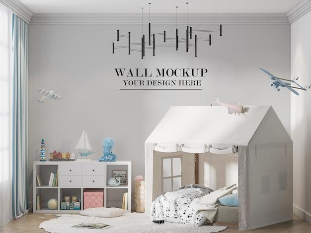 Wall mockup kindergarten or child room