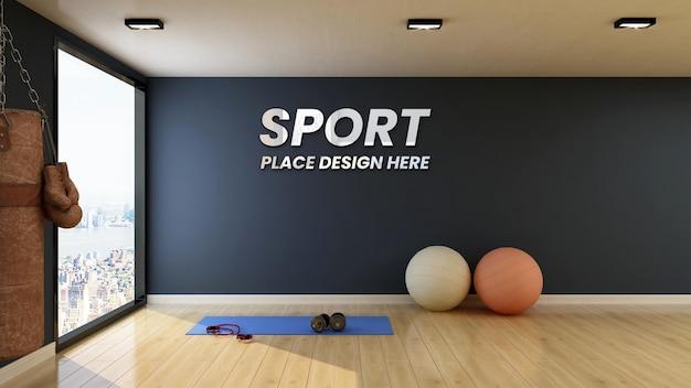 벽 모형 현대 피트니스 체육관 룸