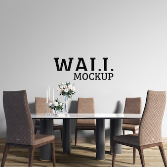 Wall mockup - neoclassical dining room
