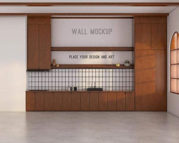 Макет стены на кухне в стиле середины века