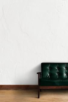 Настенный макет psd с диваном в гостиной
