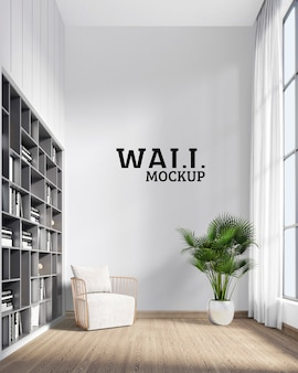 Wall mockup - sitting space to relax and read