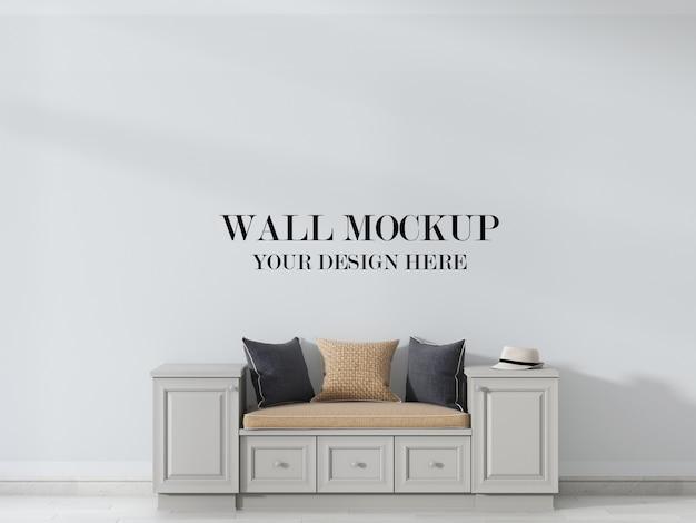 Макет стены с мебелью в стиле кантри