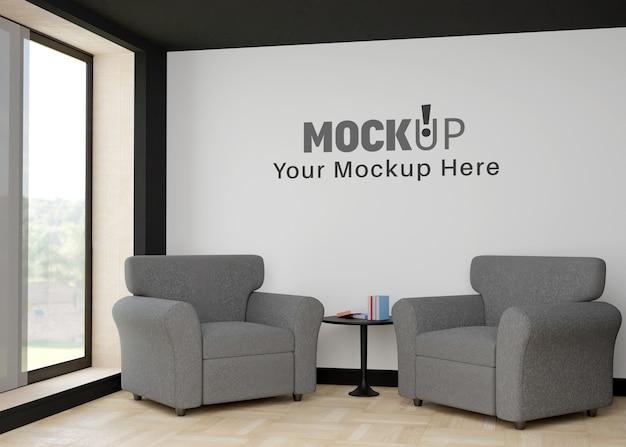 Wall mockup with simple interior wall mockup
