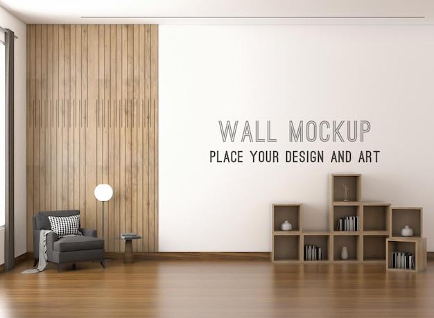 Макет стены с диваном и стеновой панелью