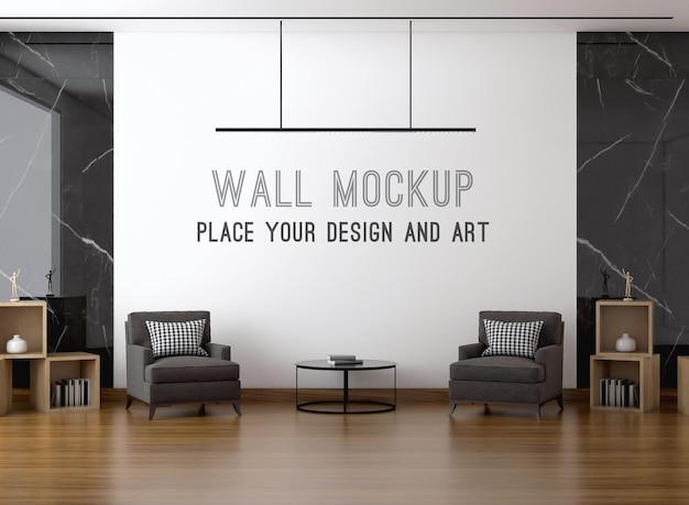 Макет стены с диваном в гостиной