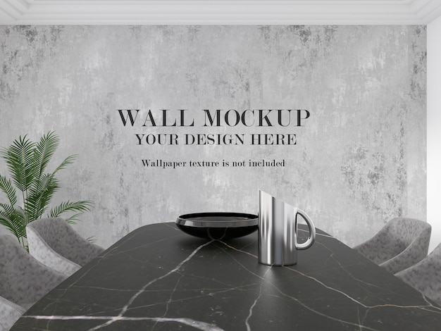 Wall mockup for your design ideas