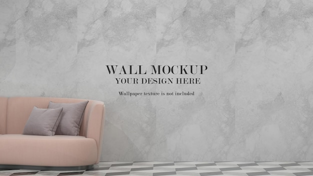 Wall mockup for your textures