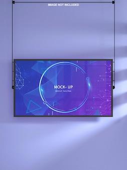 Wall monitor mockup