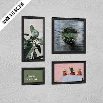 Wall photo frame mockup