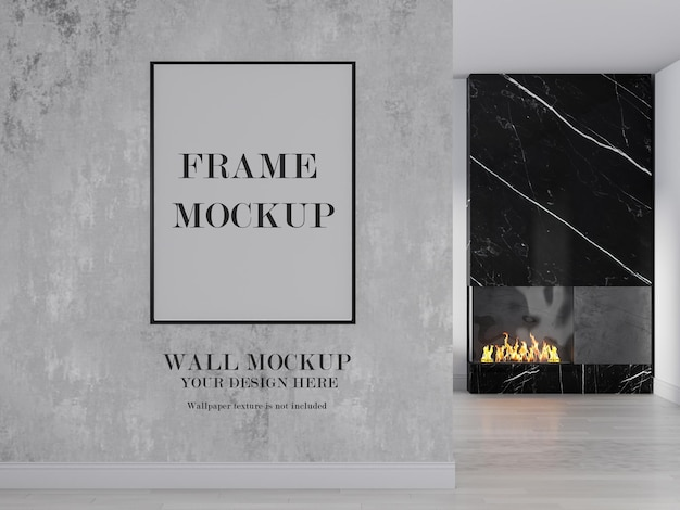 Wall and picture frame blank background