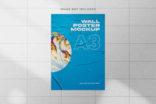 壁のポスターのモックアップ