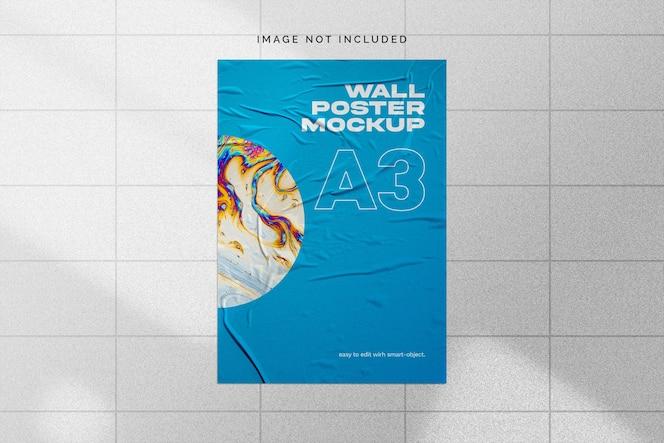 Mockup di poster da parete