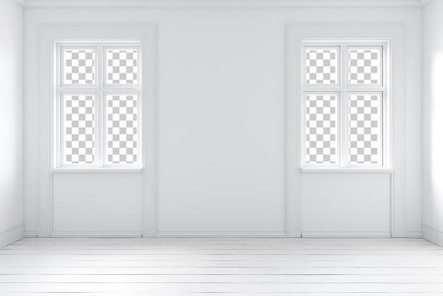 Интерьер комнаты стены дома рендеринга гостиной