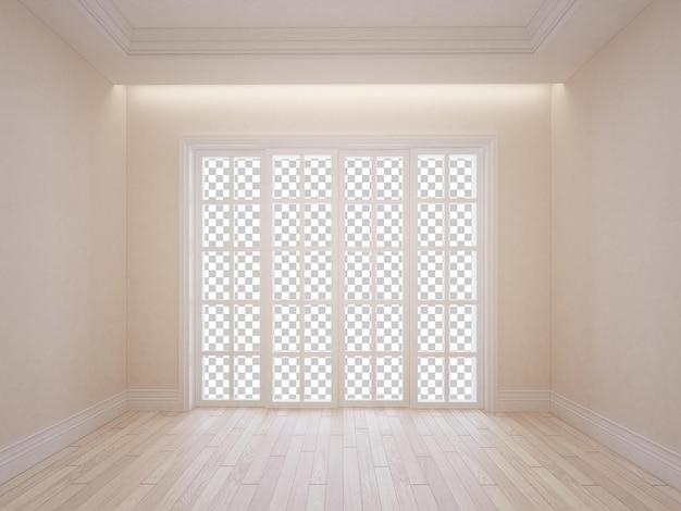 집 거실 렌더링의 벽 방 인테리어