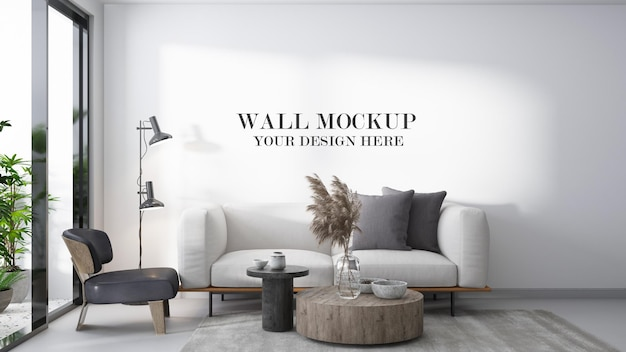 Wall template in living room