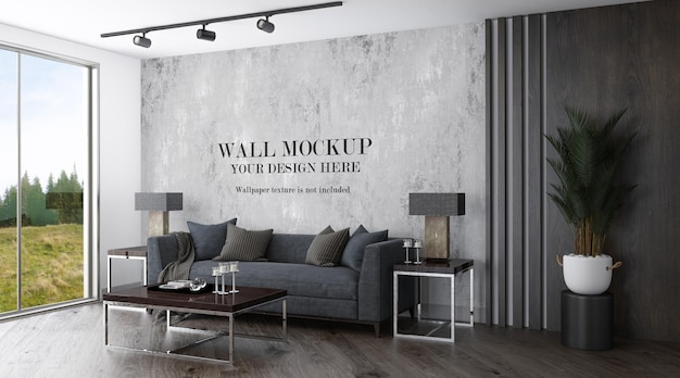Wall template in modern living room