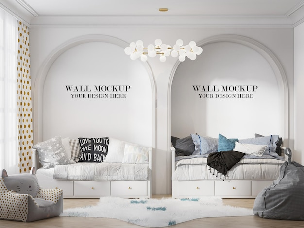 Wall template with two arched niches