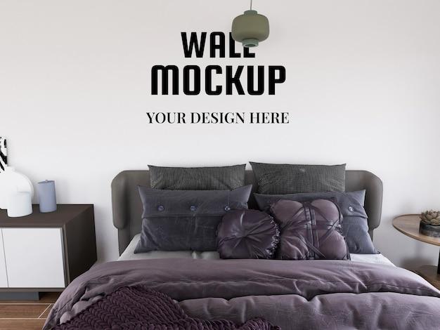 현대 침실의 바탕 화면 모형