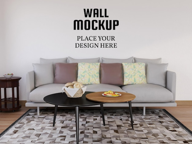 현대 거실의 배경 화면 모형