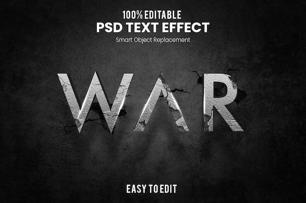 War text effect